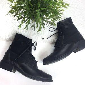 Ariat Heritage Paddlock Black Lace Up Combat Boots